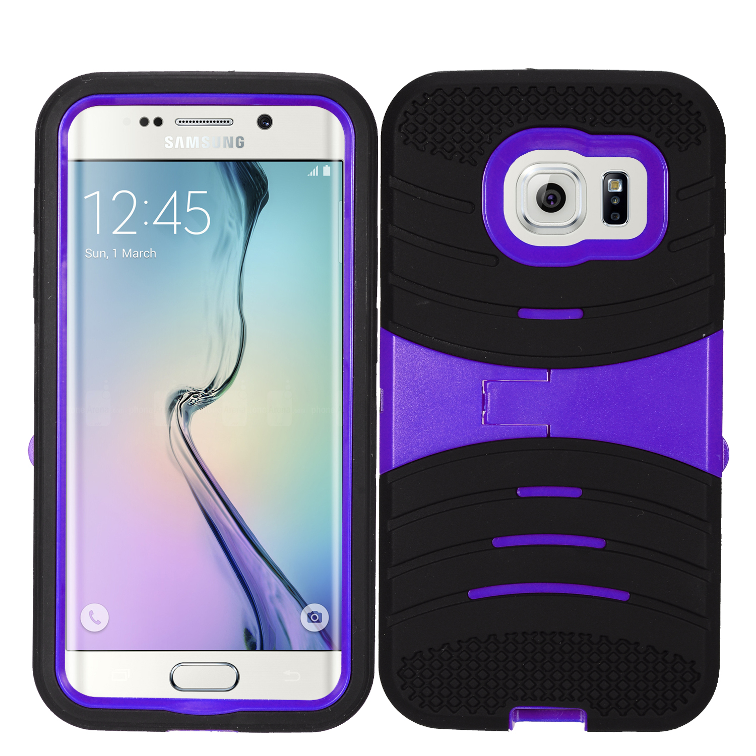 Zizo UCASE for Samsung Galaxy S7 Hybrid Dual Layer w/ Silicon Rugged Shell Protective Phone Case Cover w/ Kickstand