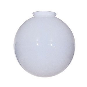 Satco Blown Glossy Opal Ball Shade Diameter 12in Fitter 4in