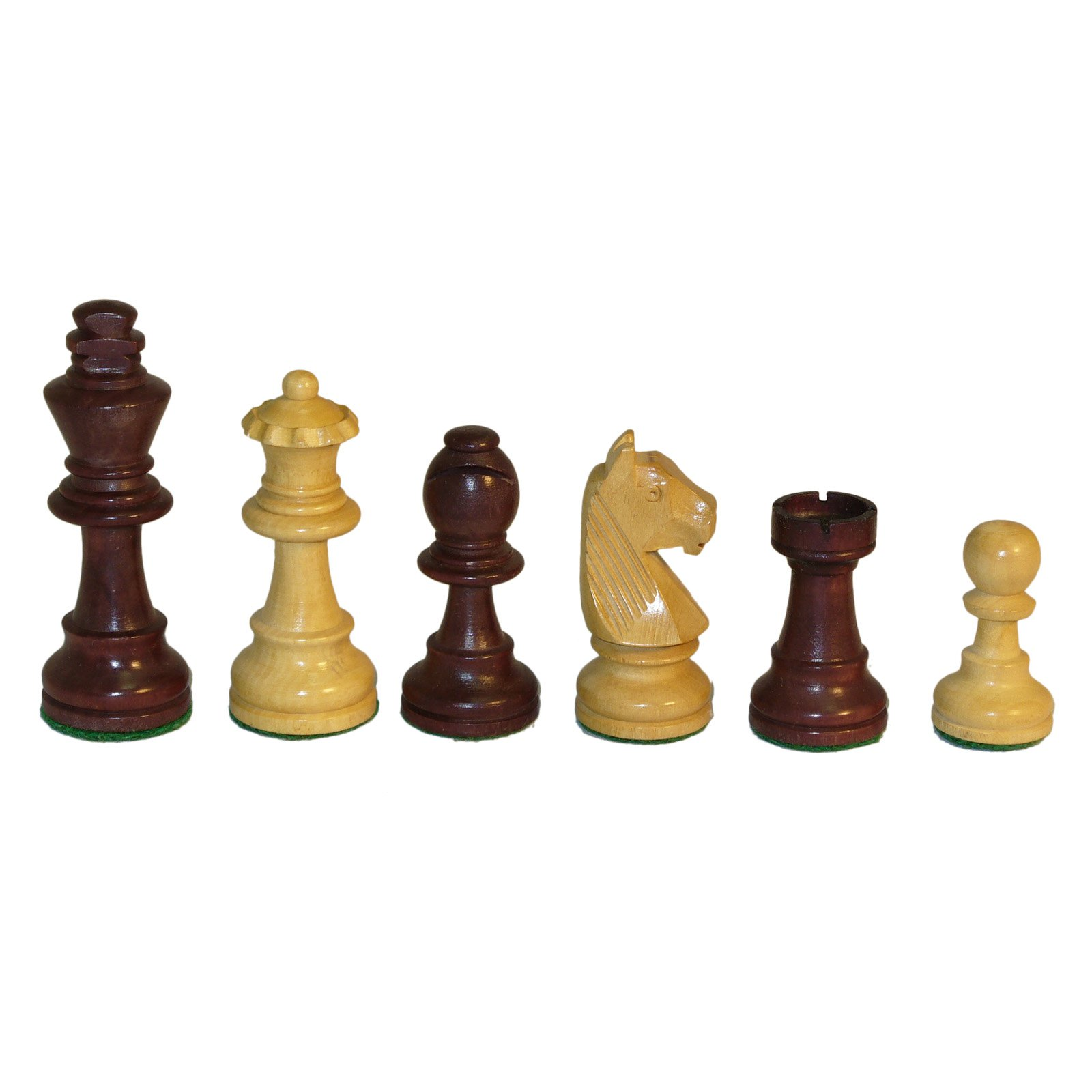 Walnut Stained German Knight Chess Pieces