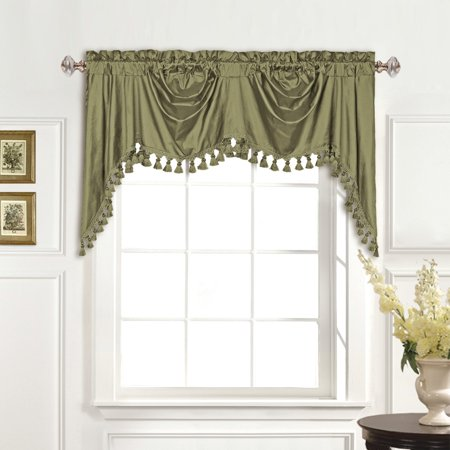 United Curtain 100% Dupioni Silk Austrian Window Valance ()