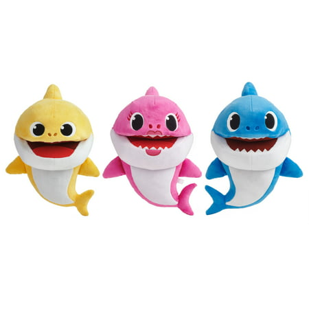 Pinkfong Baby Shark Official Song Puppet with Tempo Control, Shark Family Assortment (1 each)