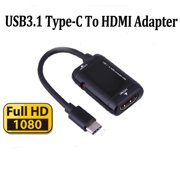 USB Type C To HDMI Adapter Converter Cable for MHL Function Phones