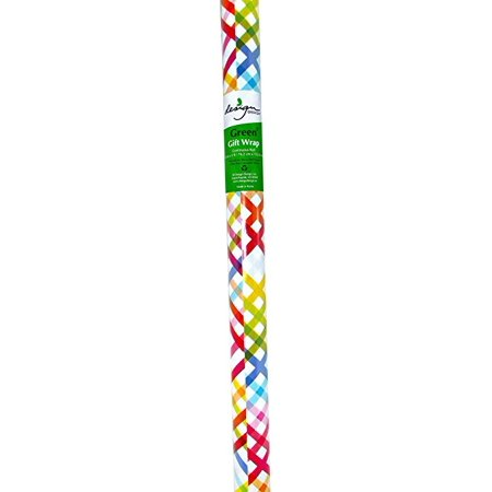 Pattern Pop Plaid Gift Wrap Paper Roll, 30 in x 5 ft