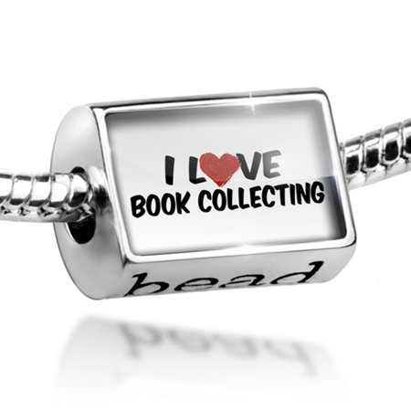 Bead I Love Book collecting Charm Fits All European Bracelets