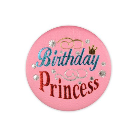 Birthday Princess Satin Button (Pack of 6) - image 1 de 1