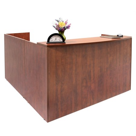 Legacy Single Pedestal Reception Desk- Cherry