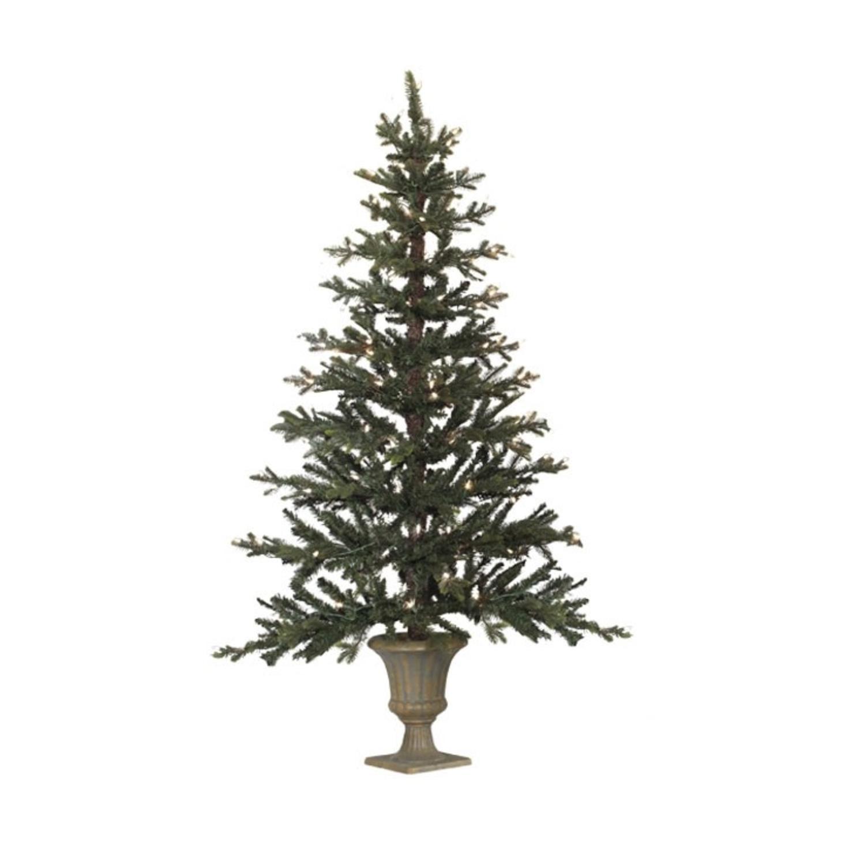 "Raz 5' x 35"" Pre-Lit Potted Pine Artificial Christmas Hal..."