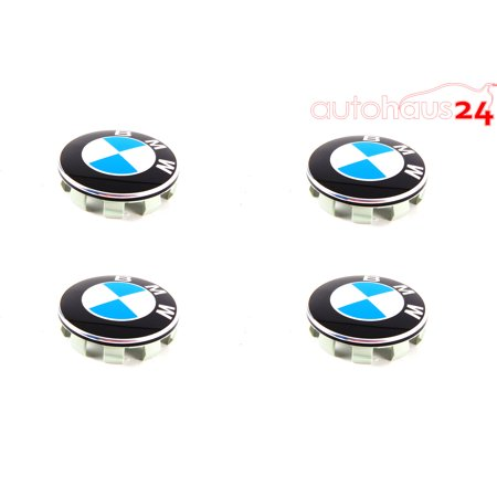 BMW E63 E70 E88 E90 E92 E93 WHEEL CENTER HUB CAP OEM SET OF X4 GENUINE 68MM Bmw Wheel Center Cap
