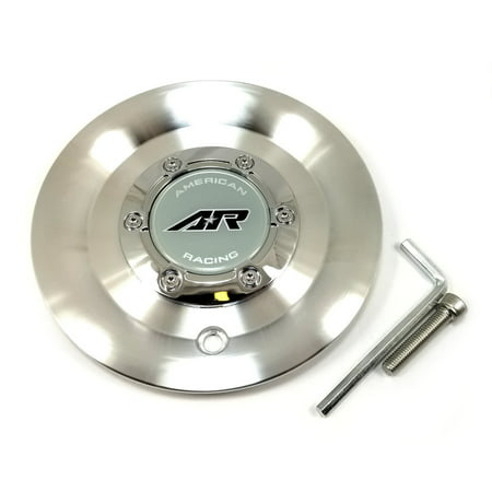 American Racing Silver Wheel Center Hub Cap 5, 6 Lug 5x112, 5x5 (5x127), 6x5 (6x127), 6x135 for