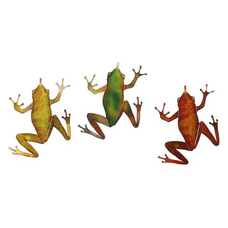 Frogs 3-Piece Set 3 Colors Metal Wall Art By Next Innovations ()