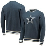 Dallas Cowboys New Era Brushed Ringer Fleece Pullover Sweatshirt - Heathered Navy