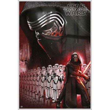 star wars episode vii the force awakens framed movie poster
