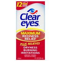 Clear Eyes Eye Drops Maximum Redness Relief, 1.0 fl oz