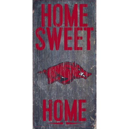 Arkansas Razorbacks 6'' x 12'' Home Sweet Home Sign - No
