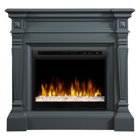 Dimplex Heather Electric Fireplace Mantel With Glass Ember Bed, Wedgewood Grey - Fall Mantel
