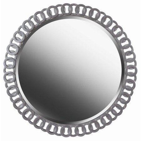 Kenroy Home 61015 Mirrors Geo Home Decor Lighting ;Bright Silver by