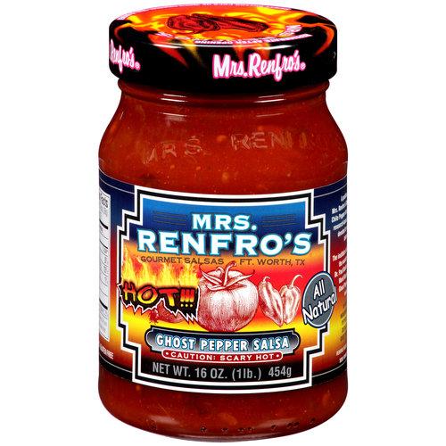 (2 Pack) Mrs. Renfro's Ghost Pepper Salsa, 16 oz