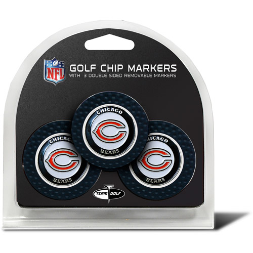 Team Golf NFL Chicago Bears 3 Pack Golf Chip Ball Markers