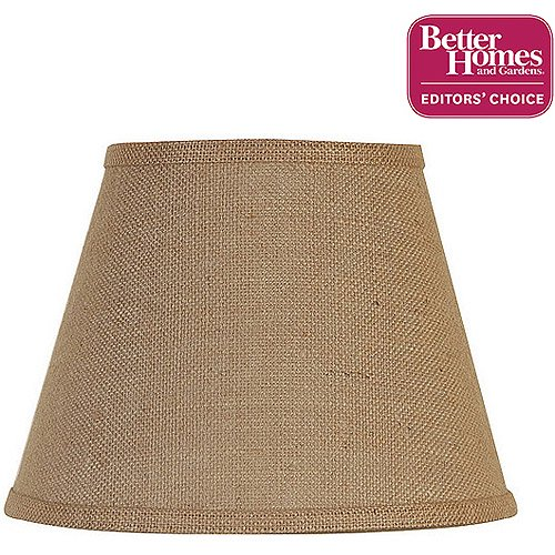 Mini lamp shades better homes and gardens accent lamp shade burlap aloadofball Image collections