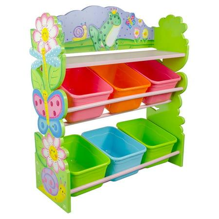 Fantasy Fields Magic Garden Toy Organizer With Storage Bins