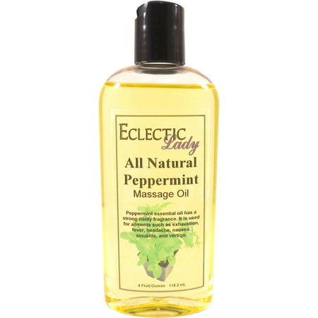 - All Natural Peppermint Massage Oil, 4 oz