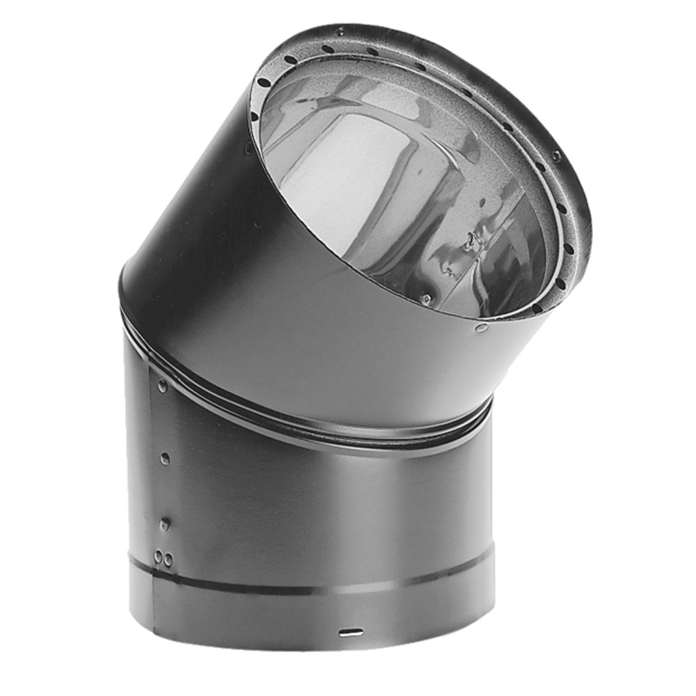 "DuraVent 8DVL-E45 8"" Inner Diameter - DVL Stove Pipe - Double Wall - 45 Degree Elbow"