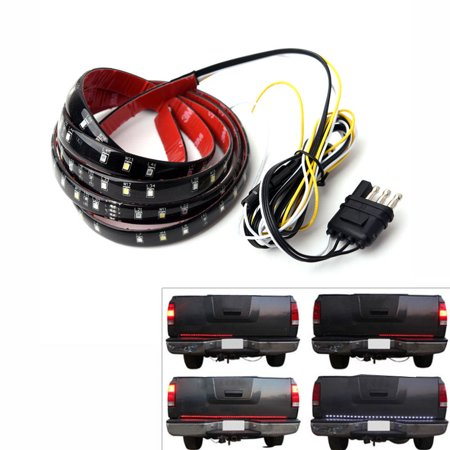 "60"" 6-Function Tailgate Red White LED Strip Reverse Brake Signal Light for Truck SUV"