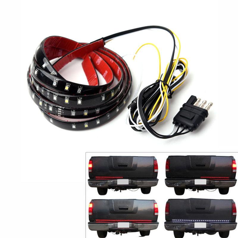 """60"""" 6-Function Tailgate Red White LED Strip Reverse Brake Signal Light for Truck SUV"""