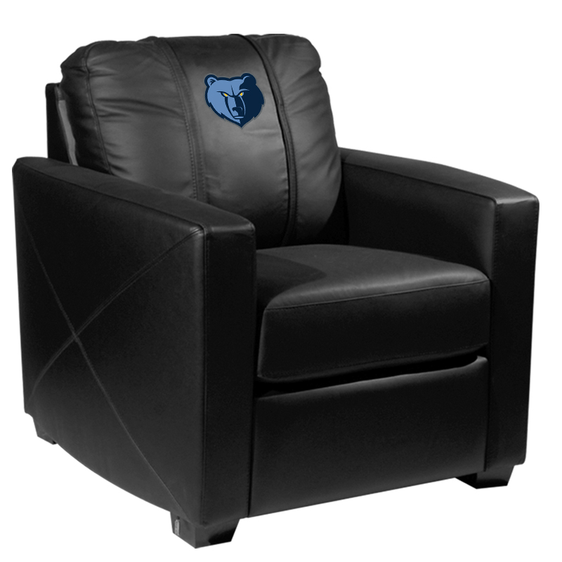 Memphis Grizzlies NBA Silver Chair with Primary Logo Panel