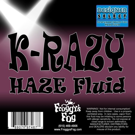 Krazy Haze   Professional Water Based Haze Juice   For Martin K 1 Hazers   1 Gallon