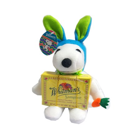 SNOOPY EASTER BUNNY Blue/Green Plush/Whitman's (Includes Fresh Candy - Easter Snoopy