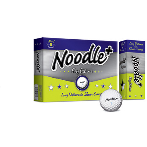 Noodle Plus Easy Distance Golf Balls, 1 Dozen