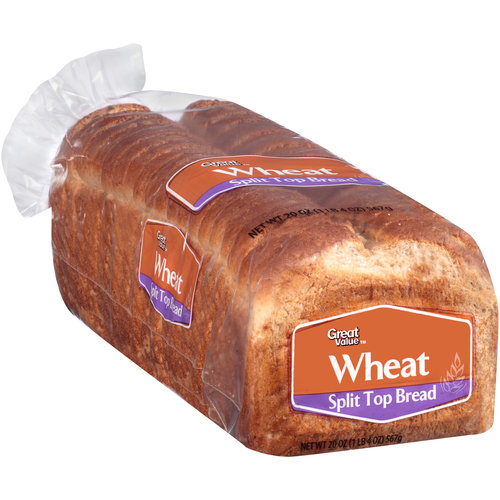 Great Value Wheat Split Top Bread, 20 oz