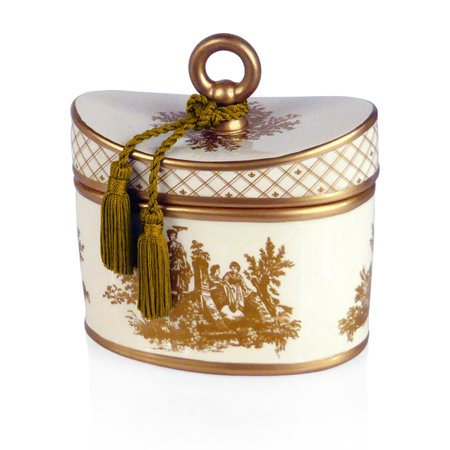 Seda France Classic Toile 2-Wick Candle Ceramic Elegant Gardenia 22 oz (Elegant Gardenia)