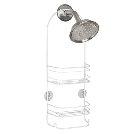 White Wood Caddy - Mainstays White Shower Caddy