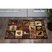 Alise Rugs  Natural Lodge Novelty Lodge Scatter Mat Rug - 2' x 3'