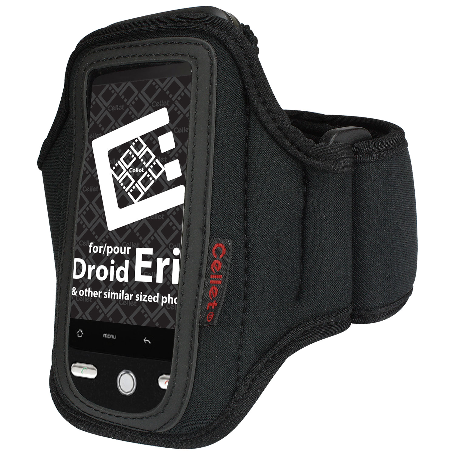 Cellet Black Neoprene Armband for LG Vu CU920 and Other Similar Sized Phones