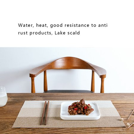 Boyijia Placemat PVC Woven Anti-scald Waterproof Non-slip Heat-insulation Table Mat Gradient Color - image 3 of 8