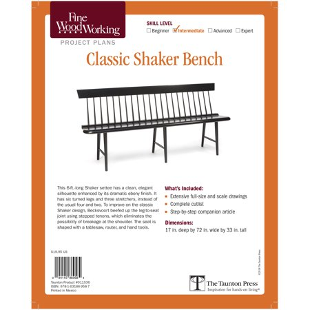 Fine Woodworking's Classic Shaker Bench Plan (Other) ()