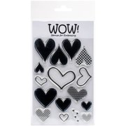 """Wow! Clear Stamps 4""""x5.75""""-layered Heart"""