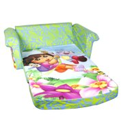 Marshmallow Furniture, Children's 2 in 1 Flip Open Foam Sofa, Nickelodeon Dora the Explorer
