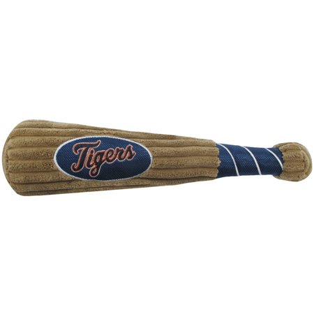 MLB DETROIT TIGERS BAT TOY for DOGS & CATS. 29 MLB Teams available. - Plush PET TOY with inner SQUEAKER. Officially Licensed Baseball BAT. (Pet Bat)