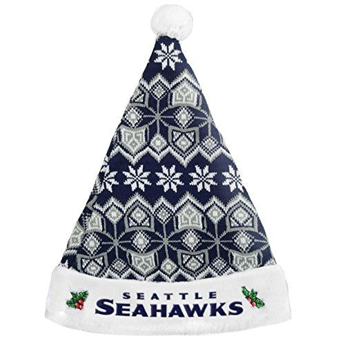 Seattle Seahawks 2015 Knit Santa Hat