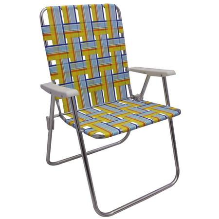Mainstays High Back Web Chair Blue Amp Yellow Stripe