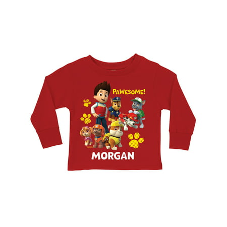 Paw Patrol Shirts (Personalized PAW Patrol Pawesome Red Long Sleeve Toddler Boys')