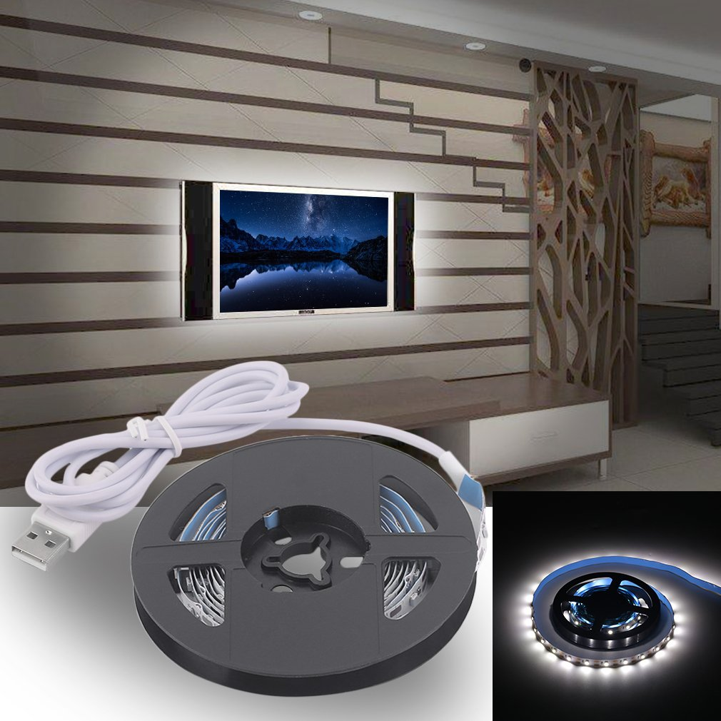 USB LED Strip Lights SMD3528 200CM LED Tape Lamps Indoor Outdoor Decoration