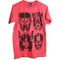 Marvel Avengers Sketch Faces Hulk Thor Spidey Captain America Adult Men's T-Shirt (XX-Large)