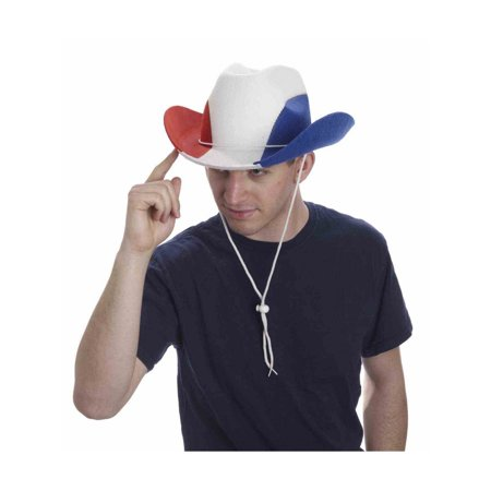 Red/White/Blue Cowboy Hat Halloween Costume - Costume Cowboy Hat
