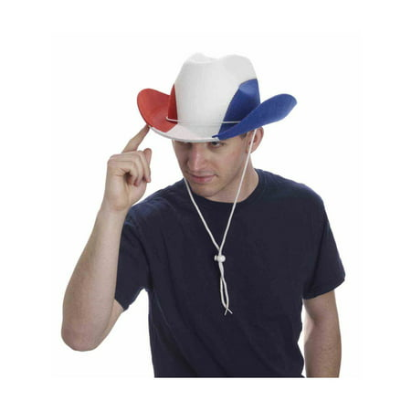 Red/White/Blue Cowboy Hat Halloween Costume Accessory - Hot Costumes For Halloween
