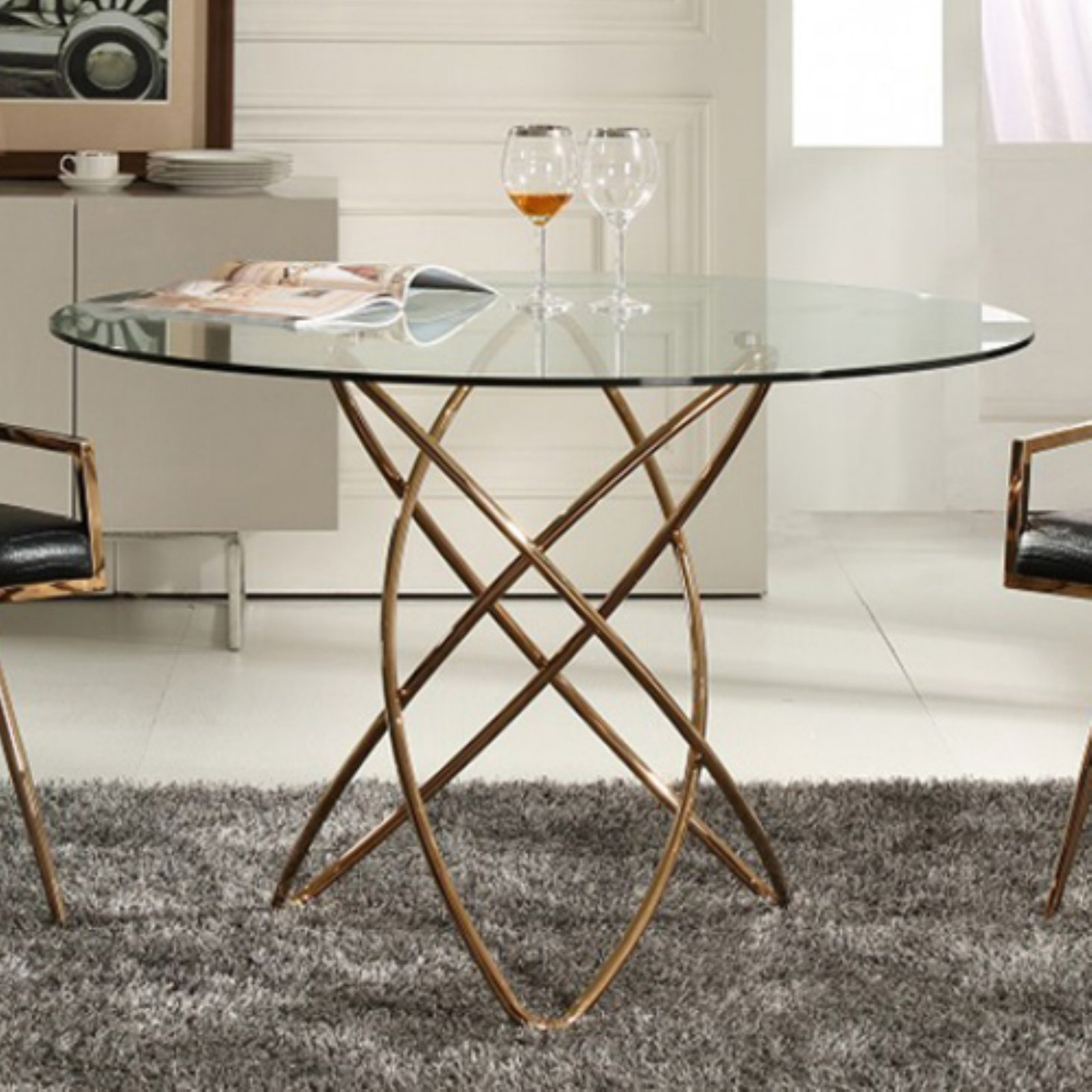 Modrest Rosario Round Dining Table